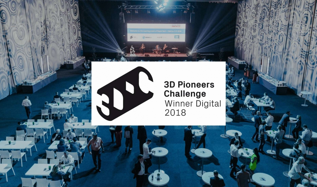 WE WON THE 3D PIONEERS CHALLENGE